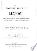 An English Arabic Lexicon