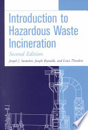 Introduction to Hazardous Waste Incineration