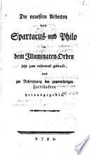 Die neuesten Arbeiten des Spartacus und Philo in dem Illuminaten-Orden