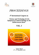 "PROCEEDINGS 4th International Congress on ""Science and Technology for the Safeguard of Cultural Heritage in the Mediterranean Basin"" VOL. I"
