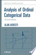 Analysis Of Ordinal Categorical Data book