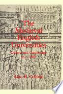 The Medieval English Universities