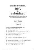 Small is Beautiful  Big is Subsidised