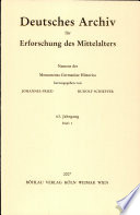 Litanei-Handschriften der Karolingerzeit