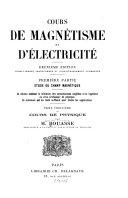 Cours de magnétisme et d'électricité