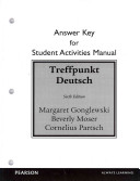 Student Activities Manual Answer Key for Treffpunkt Deutsch