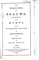 download ebook the whole book of psalms, in metre. with hymns, etc pdf epub