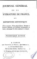 Journal g  n  ral de la litt  rature de France