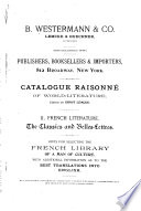 Catalogue Raisonn   of World literature