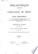Biblioth  que des   crivains de la Compagnie de J  sus ou notices bibliographiques