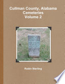 Cullman County  Alabama Cemeteries  Volume 2