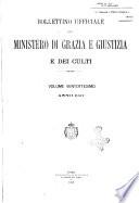 Bollettino ufficiale del Ministero di grazia e giustizia e dei culti