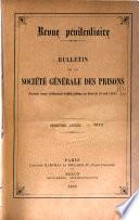 Bulletin de la Société générale des prisons