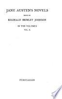 The Novels of Jane Austen  Persuasion