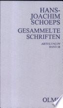Bd.16, Abt.IV, Schoeps, Schriften