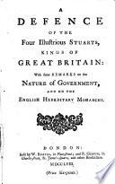A Defence Of The Four Illustrious Stuarts