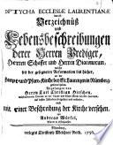 Lebensbeschreibungen aller Herren Geistlichen, welche in der Reichs-Stadt Nürnberg, seit der Reformation Lutheri, gedienet