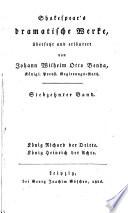 Shakespear s dramatische Werke   bers  und erl  von Johann  Wilhelm Otto Benda