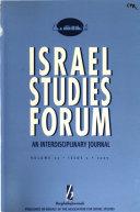 Israel Studies Forum Book PDF
