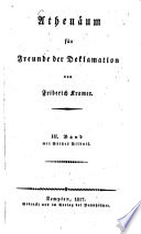 Athenäum für Freunde der Deklamation