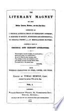 The Literary Magnet Of The Belles Lettres Science And The Fine Arts Ed By Tobias Merton Vol 1 New Ser Vol 2 Vol 2 Of The New Ser Wants All After P 192