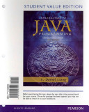 Student Value Edition for Introduction to Java Programming  Comprehensive Version Plus Myprogramminglab with Pearson Etext    Access Card Package