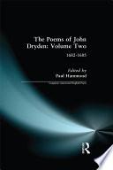 The Poems of John Dryden  Volume Two