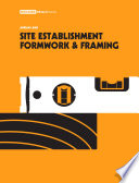 Site Establishment  Formwork and Framing  3rd Edition