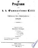 Programm des k.k. Gymnasiums Cilli