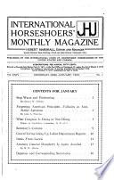 The International Horseshoers  Monthly Magazine