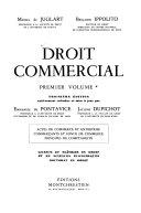 Droit Commercial Actes De Commerce Et Entreprise Commer Ants Et Fonds De Commerce Principes De Comptabilit