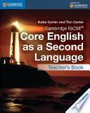 Cambridge IGCSE   Core English as a Second Language Teacher s Book