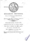 Convention Nationale R Glement Provisoire Pour Le Service De La Garde Nationale De Paris Arr T Par Le Comit Militaire Le 26 Brumaire L An Iii Etc