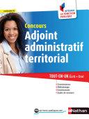 Concours Adjoint administratif Territorial   Cat  gorie C