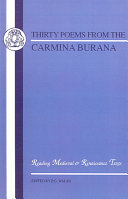 Thirty poems from the Carmina Burana