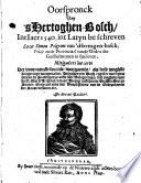 Oorspronck van 'sHertoghen-Bosch