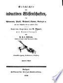 Geschichte der inductiven Wissenschaften, der Astronomie, Physik, Mechanik, Chemie, Geologie etc. von der frühesten bis zu unserer Zeit