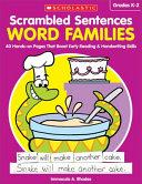 Scrambled Sentences  Word Families