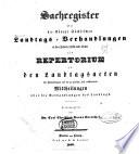 Landtags-Acten vom Jahre
