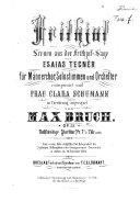 Frithjof  Scenen aus der Frithjof Sage von E  Tegn  r  f  r M  nnerchor  Solostimmen und Orchester  Op  23  Vollst  ndige Partitur