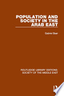 Population And Society In The Arab East