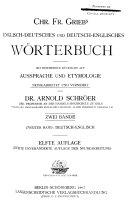download ebook englisch-deutsches und deutsch-englisches wörterbuch mit besonderer rüchsicht auf aussprache und etymologie pdf epub