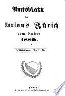 Amtsblatt des Kantons Zürich