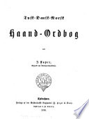 Deutsch  D  nisch Norwegisches Hand W  rterbuch