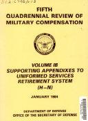 Quadrennial Review of Military Compensation