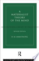 A Materialist Theory of the Mind Pdf/ePub eBook