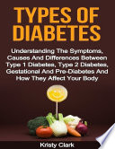 Types Of Diabetes Understanding The Symptoms Causes And Differences Between Type 1 Diabetes Type 2 Diabetes Gestational And Pre Diabetes And How They Affect Your Body