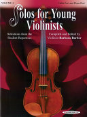 Solos for Young Violinists Violin Part and Piano Acc   Volume 4