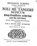 Book Lemma Medicum Explicans Noli Me Tangere Medicum