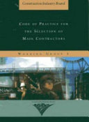 Code of Practice for the Selection of Main Contractors